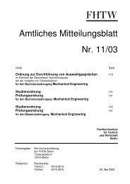 Amtlichen Mitteilungsblatt 11/03