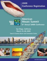 American Mosaic Summit - Society of American Mosaic Artists