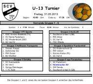 Spielplan Achtelfinale - Hombrucher SV 09/72 eV