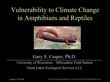 Vulnerability to Climate Change in Amphibians and Reptiles
