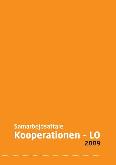 Samarbejdsaftale Kooperationen - LO, 2009