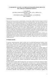 valutazione meccanica su laminati compositi tessuti con l'ausilio dell ...