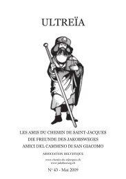 ultreïa - Schweizerischen Vereinigung der Freunde des Jakobsweges