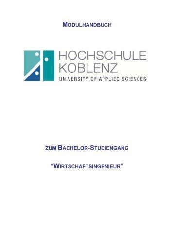 2 Schwerpunktmodule Betriebswirtschaftslehre - Fachhochschule ...