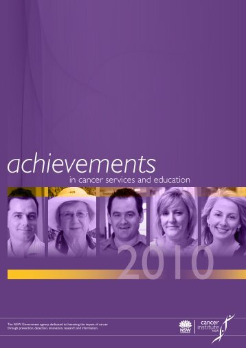 Achievements in cancer services and education 2010