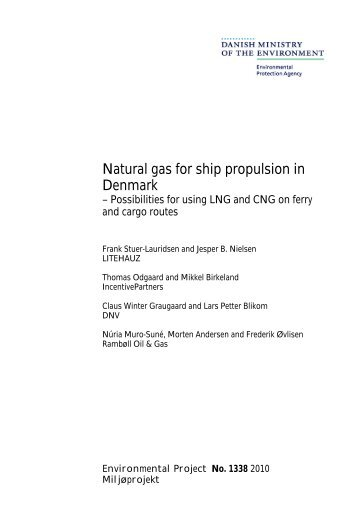 Natural gas for ship propulsion in Denmark - Den Danske Maritime ...