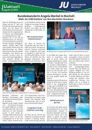 Bundeskanzlerin Angela Merkel in Bocholt Mehr als 1500 Zuhörer ...