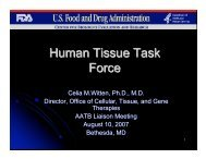 Human Tissue Task Force