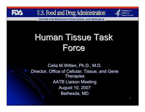 Human Tissue Task Force