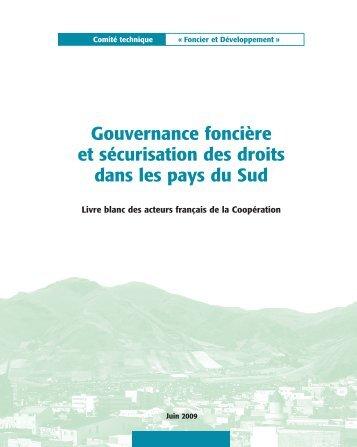 Gouvernance foncière et sécurisation des droits dans les ... - aGter