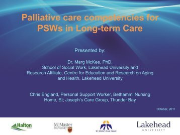Personal Support Worker Competencies - Quality Palliative Care in ...