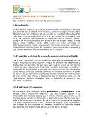 Medios Masivos de Comunicación, Modulo 1 - Sector Lenguaje y ...