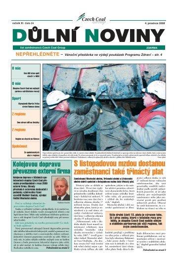 Důlní noviny ročník XI číslo 24 - Czech Coal