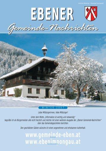 Gemeinde-Nachrichten - Gemeinde Eben