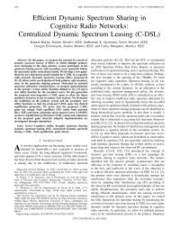 Efficient Dynamic Spectrum Sharing in Cognitive Radio Networks ...