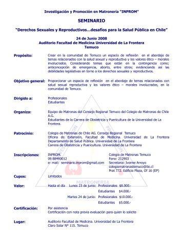 seminario - Facultad de Medicina UFRO - Universidad de La Frontera