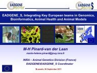 EADGENE_S Integrating key European teams in ... - Quantomics