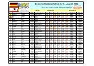 Deutsche Meisterschaften der A - Jugend 2010