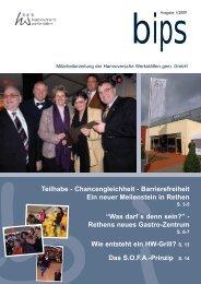 bips xpress 1 2009.qxp - Hannoversche Werkstätten