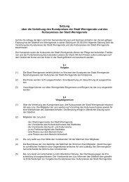 Kunst- und Kulturpreissatzung - Wernigerode