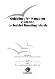 Guidelines for Managing Visitation to Seabird Breeding Islands