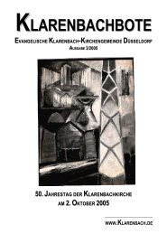 """reni und rolf -""""show""""in der kirche? - Evangelische Klarenbach ..."""