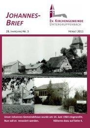johannes- brief - Evangelische Kirchengemeinde Untergruppenbach