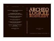 Archeologické rozhledy 2010 - Archeologický ústav AV ČR