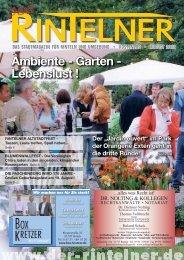 Ambiente - Garten - Lebenslust ! - Rintelner