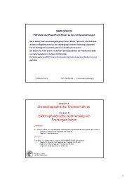 Chromatographische Trennverfahren Elektrophoretische ... - ZMBH