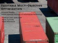 Equitable Multi-Objective Optimization
