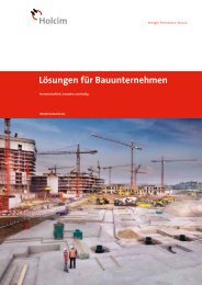 Lösungen für Bauunternehmen - Holcim Schweiz