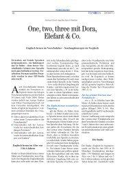 One, two, three mit Dora, Elefant & Co. - 1