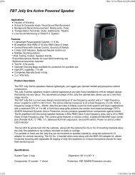 FBT Jolly 8ra Active Powered Speaker - AVsuperstore.com