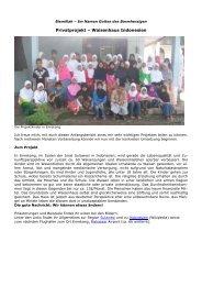 Privatprojekt – Waisenhaus Indonesien - Way to Allah