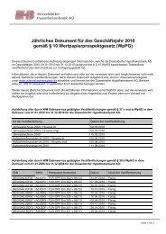 Jährliches Dokument für das Geschäftsjahr 2010 gemäß § 10 ...