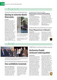 110 Burgenland Kärnten Eine vorbildliche Gemeinde ... - Kommunal