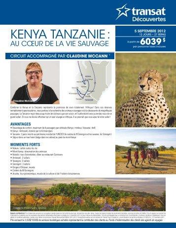 KENYA TANZANIE : - Voyages à rabais