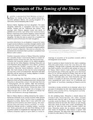 Synopsis of The Taming of the Shrew - The Shakespeare Theatre ...