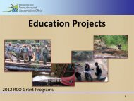 Education - Washington State Recreation and Conservation Office