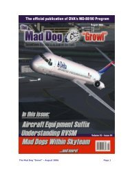 "The Mad Dog ""Growl"" – August 2006 Page 1 - Delta Virtual Airlines"