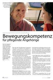 Bewegungskompetenz für pflegende Angehörige - die Zeitschrift