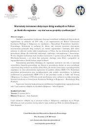 Warsztaty - ŻEGLUGA ŚRÓDLĄDOWA wczoraj, dziś, jutro w Polsce i ...