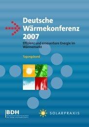 Deutsche Wärmekonferenz 2007 - bdh