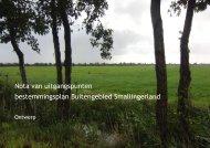 Nota van uitgangspunten bestemmingsplan Buitengebied ...