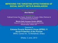 Improving the Targeting Effectiveness of Social Safety Nets ... - Shiree