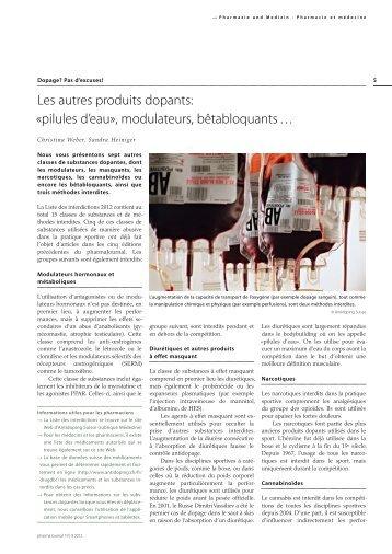 Wasserpillen», Modulatoren und Betablocker - Antidoping Schweiz