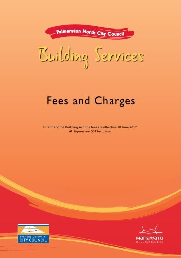 Building Services - Fees and Charges - Palmerston North City Council