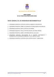 ORDENANZA MUNICIPAL - LIBRO VERDE - Villajoyosa