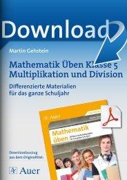 Mathematik Üben Klasse 5 Multiplikation und Division